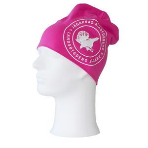 Mössa med tryck, Jägarnas Riksförbund emblem, rosa